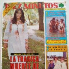 Collectionnisme de Magazine Diez Minutos: REVISTA DIEZ MINUTOS Nº 1303 MUERTE CECILIA MISS ESPAÑA CANTUDO BEATLES MASSIEL RITA PAVONE DALIDA. Lote 227682150