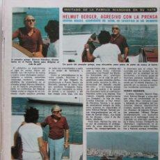 Coleccionismo de Revista Diez Minutos: RECORTE REVISTA DIEZ MINUTOS Nº 1203 1974 HELMUT BERGER 3 PGS. Lote 228039120