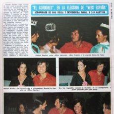 Coleccionismo de Revista Diez Minutos: RECORTE REVISTA DIEZ MINUTOS Nº 1203 1974 CORDOBÉS. MISS ESPAÑA. Lote 228041125