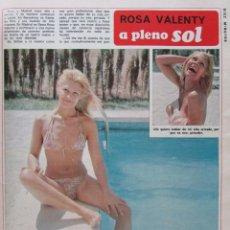 Coleccionismo de Revista Diez Minutos: RECORTE REVISTA DIEZ MINUTOS Nº 1203 1974 ROSA VALENTY PORTADA, PÓSTER CENTRAL Y 4 PGS.. Lote 228041401