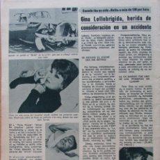 Coleccionismo de Revista Diez Minutos: RECORTE REVISTA DIEZ MINUTOS Nº 914 1969 GINA LOLLOBRIGIDA 2 PGS. Lote 228042110