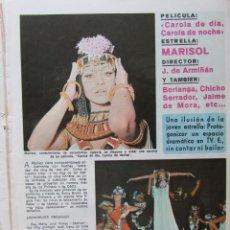 Coleccionismo de Revista Diez Minutos: RECORTE REVISTA DIEZ MINUTOS Nº 914 1969 MARISOL. PEPA FLORES 2 PGS. Lote 228042435