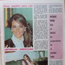 Coleccionismo de Revista Diez Minutos: RECORTE REVISTA DIEZ MINUTOS Nº 914 1969 NATHALIE WOOD 2 PGS. Lote 228042515