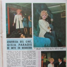 Coleccionismo de Revista Diez Minutos: RECORTE REVISTA DIEZ MINUTOS Nº 914 1969 GISIA PARADIS. KATINKA MISS HOLANDA 1963 2 PGS. THE KINKS. Lote 228042740