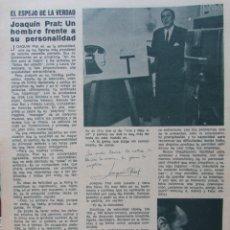 Coleccionismo de Revista Diez Minutos: RECORTE REVISTA DIEZ MINUTOS Nº 914 1969 JOAQUIN PRAT. Lote 228042830