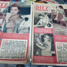 Coleccionismo de Revista Diez Minutos: REVISTAS DEL CORAZON DIEZ MINUTOS 1956. Lote 228443230