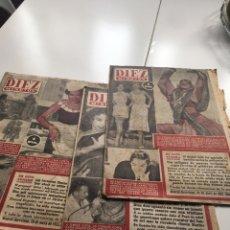 Coleccionismo de Revista Diez Minutos: 3REVISTAS DE DIEZ MINUTOS1955. Lote 229839840