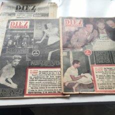 Coleccionismo de Revista Diez Minutos: 3 REVISTAS DE DIEZ MINUTOS 1954. Lote 229839965