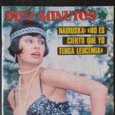 Collectionnisme de Magazine Diez Minutos: REVISTA DIEZ MINUTOS Nº 1244 POSTER MIGUEL GALLARDO - NADIUSKA. Lote 234150090