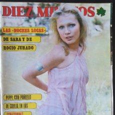 Collectionnisme de Magazine Diez Minutos: REVISTA DIEZ MINUTOS Nº 1247 POSTER DAVID CARPENTER - URSULA PILSAK. Lote 234150120