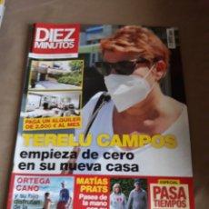 Coleccionismo de Revista Diez Minutos: REVISTA DIEZ MINUTOS N° 3589 .JUNIO 2020 . TERELU CAMPOS - ORTEGA CANO - MATIAS PRATS. Lote 234302300