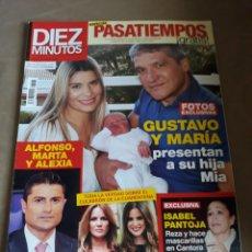 Coleccionismo de Revista Diez Minutos: REVISTA DIEZ MINUTOS N° 3585. MAYO 2020 .ALFONSO MERLOS MARTA Y ALEXIA. Lote 234304065