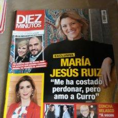 Coleccionismo de Revista Diez Minutos: REVISTA DIEZ MINUTOS N°3575 .AZUCAR MORENO .MARIA JESÚS RUIZ.. Lote 234322155