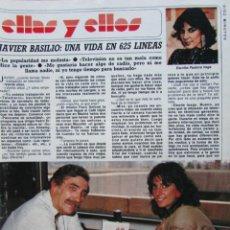 Collectionnisme de Magazine Diez Minutos: RECORTE REVISTA DIEZ MINUTOS N.º 1771 1985 JAVIER BASILIO 4 PGS. Lote 235445195