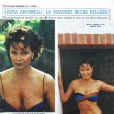 Collectionnisme de Magazine Diez Minutos: RECORTE REVISTA DIEZ MINUTOS N.º 1771 1985 LAURA ANTONELLI 3 PGS. Lote 235446625