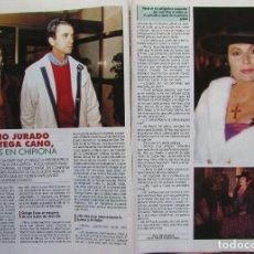 Collectionnisme de Magazine Diez Minutos: RECORTE REVISTA PRONTO N.º 1087 1993 ROCÍO JURADO Y ORTEGA CANO 2 PGS. Lote 235788485