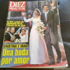 Coleccionismo de Revista Diez Minutos: REVISTA MAGAZINE DIEZ MINUTOS BODA INFANTA CRISTINA IÑAKI URDANGARÍN BARCELONA ESPECIAL BODA 1997. Lote 236896705