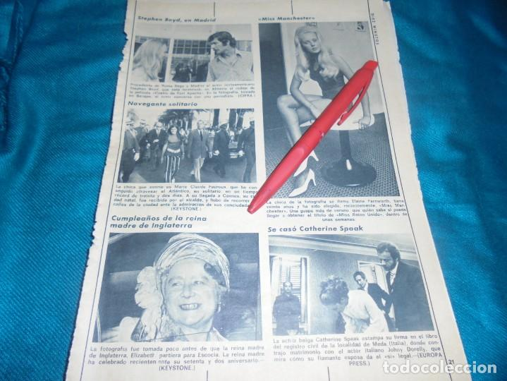 RECORTE : MISS MANCHESTER. DIEZ MINUTOS, AGTO 1972(#) (Coleccionismo - Revistas y Periódicos Modernos (a partir de 1.940) - Revista Diez Minutos)