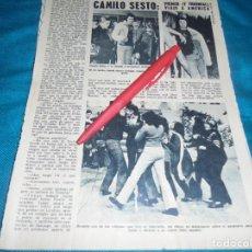 Coleccionismo de Revista Diez Minutos: RECORTE : CAMILO SESTO, PRIMER VIAJE A AMERICA. DIEZ MINUTOS, AGTO 1972(#). Lote 237990340