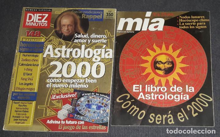 LOTE E 2 REVISTAS DIEZ MINUTOS Y MIA EL LIBRO DE LA ASTROLOGIA 2000 RAPPEL (Coleccionismo - Revistas y Periódicos Modernos (a partir de 1.940) - Revista Diez Minutos)