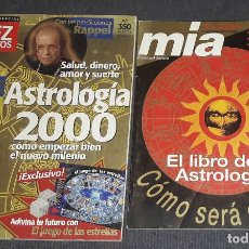 Coleccionismo de Revista Diez Minutos: LOTE E 2 REVISTAS DIEZ MINUTOS Y MIA EL LIBRO DE LA ASTROLOGIA 2000 RAPPEL. Lote 240383280