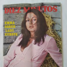 Coleccionismo de Revista Diez Minutos: REVISTA DIEZ MINUTOS NUM.1045, AÑO 1971, POSTERS ORNELLA MUTI,MARK LESTER,. Lote 242294845