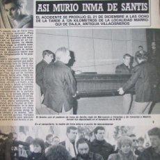 Collectionnisme de Magazine Diez Minutos: RECORTE REVISTA DIEZ MINUTOS N.º 2002 1990 INMA DE SANTIS. PORTADA Y 5 PGS. ANDRES DO BARRO 2 PGS. Lote 242386945