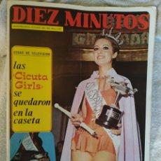 Coleccionismo de Revista Diez Minutos: REVISTA DIEZ MINUTOS 1972,MISS ESPAÑA,SUPER POSTER LA CONTRAHECHA,MARLON BRANDO. Lote 242484645