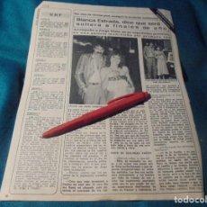 Coleccionismo de Revista Diez Minutos: RECORTE : BLANCA ESTRADA. DIEZ MINUTOS, AGTO 1979(#). Lote 243223310
