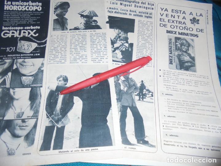 RECORTE : MIGUEL BOSÉ : DEBUT CINEMATOGRAFICO. DIEZ MINUTOS, OCTBRE 1972(#) (Coleccionismo - Revistas y Periódicos Modernos (a partir de 1.940) - Revista Diez Minutos)