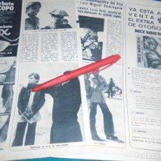 Coleccionismo de Revista Diez Minutos: RECORTE : MIGUEL BOSÉ : DEBUT CINEMATOGRAFICO. DIEZ MINUTOS, OCTBRE 1972(#). Lote 243367385