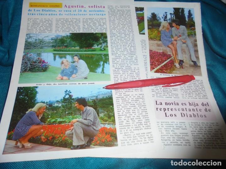RECORTE : BODA DE AGUSTIN, SOLISTA DE LOS DIABLOS. DIEZ MINUTOS, OCTBRE 1972(#) (Coleccionismo - Revistas y Periódicos Modernos (a partir de 1.940) - Revista Diez Minutos)