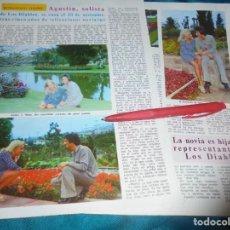 Coleccionismo de Revista Diez Minutos: RECORTE : BODA DE AGUSTIN, SOLISTA DE LOS DIABLOS. DIEZ MINUTOS, OCTBRE 1972(#). Lote 243367505