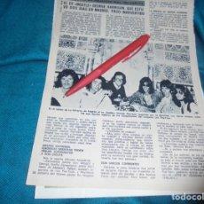 Coleccionismo de Revista Diez Minutos: RECORTE : EL EX BEATLE GEORGE HARRISON, EN MADRID. DIEZ MINUTOS, OCTBRE 1972(#). Lote 243367700