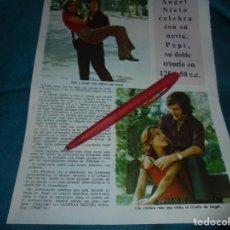 Coleccionismo de Revista Diez Minutos: RECORTE : ANGEL NIETO. DIEZ MINUTOS, OCTBRE 1972(#). Lote 243367895