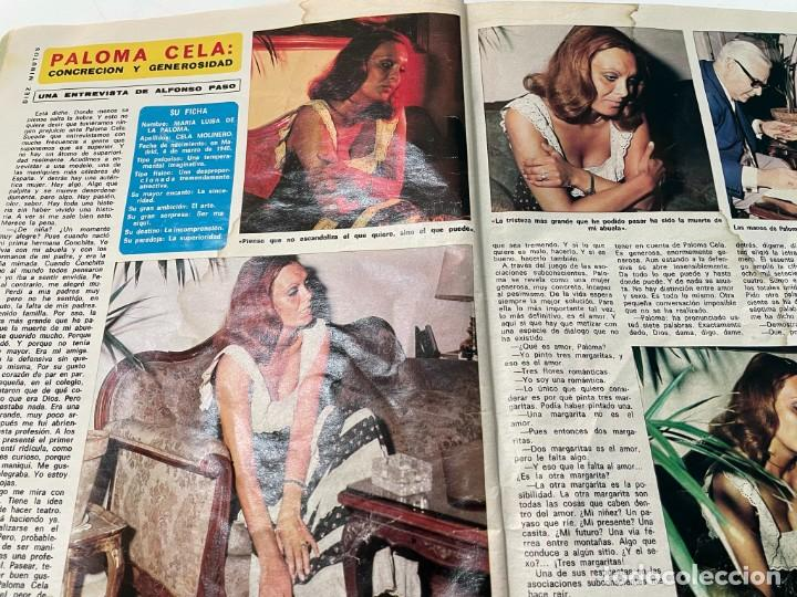 Coleccionismo de Revista Diez Minutos: DIEZ MINUTOS 1974 PALOMA CELA MARISOL HELMUT BERGER ROSA MORENA CAMILO SESTO MARIBEL MARTIN SURIA - Foto 3 - 243519980