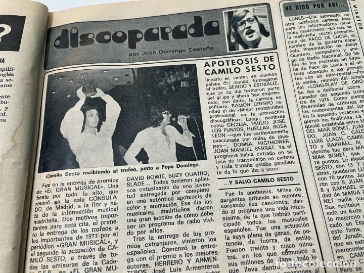 Coleccionismo de Revista Diez Minutos: DIEZ MINUTOS 1974 PALOMA CELA MARISOL HELMUT BERGER ROSA MORENA CAMILO SESTO MARIBEL MARTIN SURIA - Foto 7 - 243519980
