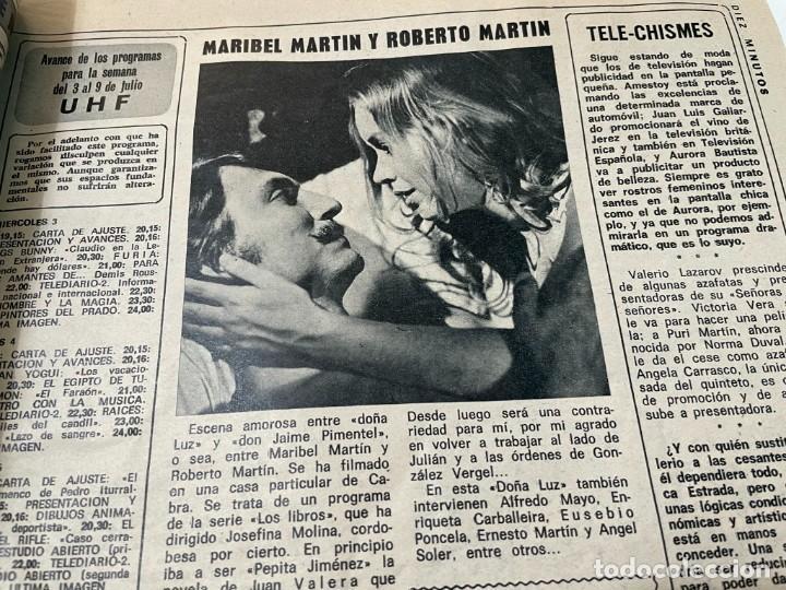 Coleccionismo de Revista Diez Minutos: DIEZ MINUTOS 1974 PALOMA CELA MARISOL HELMUT BERGER ROSA MORENA CAMILO SESTO MARIBEL MARTIN SURIA - Foto 8 - 243519980