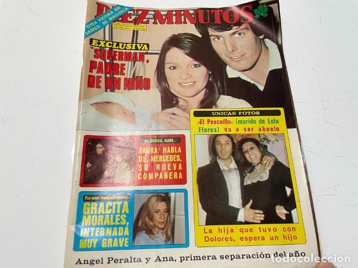 DIEZ MINUTOS ENERO 1980 SAN BASILIO SARA MONTIEL BARBARA REY HOMBRE RICO HOMBRE POBRE BEE GEES (Coleccionismo - Revistas y Periódicos Modernos (a partir de 1.940) - Revista Diez Minutos)