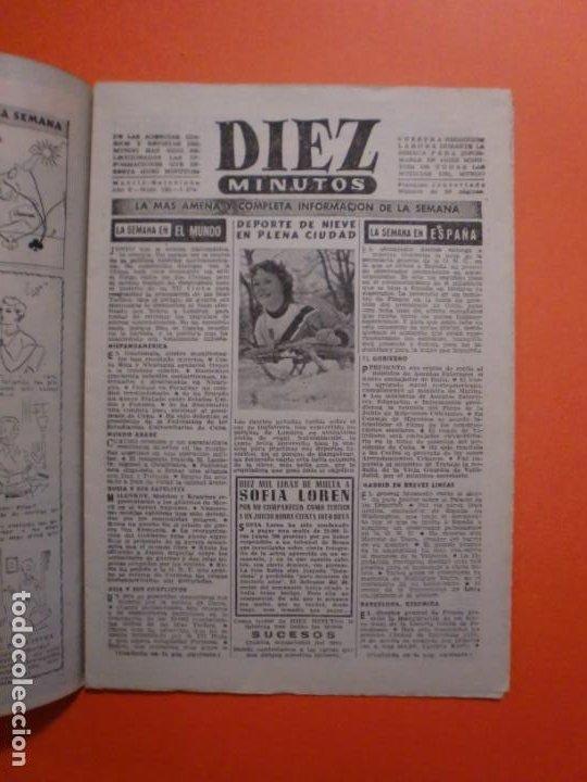 Coleccionismo de Revista Diez Minutos: Nº 180 6 FEBRERO 1955 MARILYN MONROE PORTADA Y ARTICULO INTERIOR - NAUTILUS - Foto 2 - 243911725
