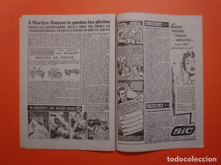 Coleccionismo de Revista Diez Minutos: Nº 180 6 FEBRERO 1955 MARILYN MONROE PORTADA Y ARTICULO INTERIOR - NAUTILUS - Foto 4 - 243911725