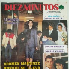 Coleccionismo de Revista Diez Minutos: REVISTA DIEZ MINUTOS Nº 1704 MATÍAS PRATS UN DOS TRES CARMINA ORDOÑEZ PASTORA VEGA ISABEL PREYSLER. Lote 246262500