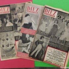 Coleccionismo de Revista Diez Minutos: 3 REVISTAS DIEZ MINUTOS AÑO 1954. Lote 249591445