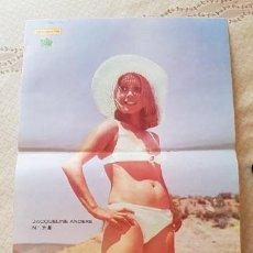 Coleccionismo de Revista Diez Minutos: GRAN PÓSTER REVISTA DIEZ MINUTOS - Nº 31 - JACQUELINE ANDERE. Lote 253259885