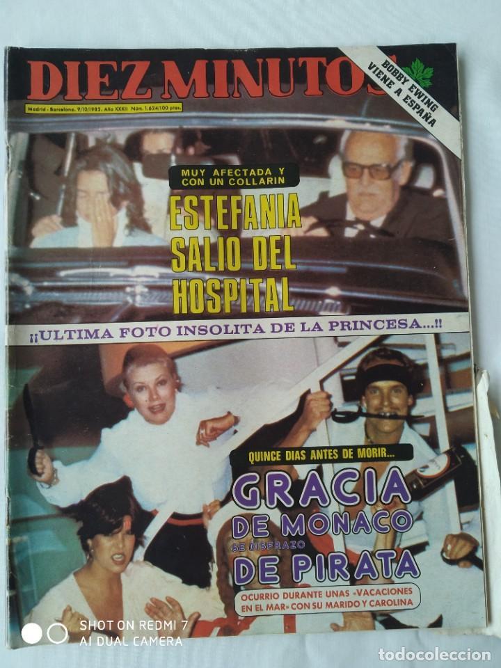 REVISTA DÍEZ MINUTOS 9/10/82,GRACE DE MONACO,BOBBY EWING,MISS ESPAÑA,XXX S.SEBASTIAN FESTIVAL (Coleccionismo - Revistas y Periódicos Modernos (a partir de 1.940) - Revista Diez Minutos)