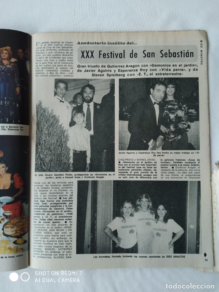 Coleccionismo de Revista Diez Minutos: Revista Díez minutos 9/10/82,Grace de Monaco,Bobby Ewing,Miss España,XXX S.Sebastian festival - Foto 6 - 253466395