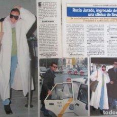 Coleccionismo de Revista Diez Minutos: RECORTE REVISTA DIEZ MINUTOS N.º 2158 1993 ROCÍO JURADO, ORTEGA CANO 5 PGS. Lote 254986090