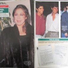 Coleccionismo de Revista Diez Minutos: RECORTE REVISTA DIEZ MINUTOS N.º 2158 1993 ISABEL PANTOJA, 3 PGS. Lote 254986235