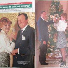 Coleccionismo de Revista Diez Minutos: RECORTE REVISTA DIEZ MINUTOS N.º 2158 1993 BARONES THYSSEN, TITA CERVERA. PORTADA Y 3 PGS. Lote 254986420
