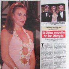 Coleccionismo de Revista Diez Minutos: RECORTE REVISTA DIEZ MINUTOS N.º 2158 1993 ANA OBREGÓN. Lote 254986805
